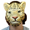 Plastic Cheetah Mask