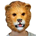Plastic Lion Mask