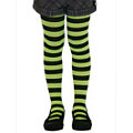 Child Funky Stripe Tights Green