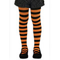 Child Funky Stripe Tights Orange