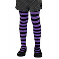 Child Funky Stripe Tights Purple