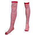 Striped Knee High Sox - Red/White