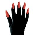 Black Gloves w/ Red Claws