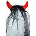 Devil Horns Headband w/ Veil