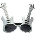Silver Guitar Glasses