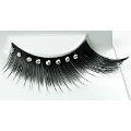 Black Winged Eyelashes w/ Diamontes