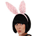Bunny Fluffy Light Pink Ears on Headband