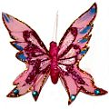 Pink Spiky Feather Butterfly