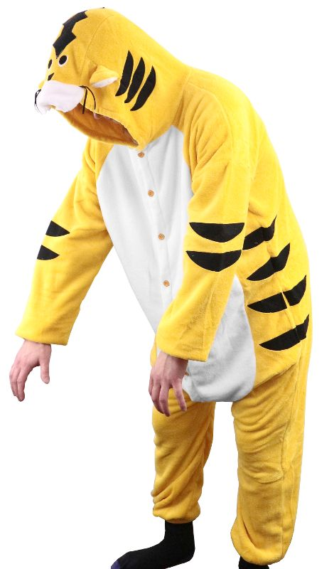 Yellow Tiger Adult Large Bodysuit Costume