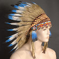 Blue Indian Headdress