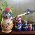 Mario Inspired Nesting Dolls Babushka Matryoshka Set of 5
