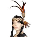 Pheasant Feathers Indian Headband