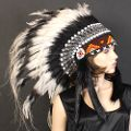 Black & White Indian Headdress Native American Indian