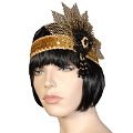 Cecile Gold/Black Fashion Headband