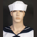White Sailor Gob Hat