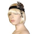 Agatha Black/Silver Fashion Headband