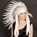 White Indian Headdress