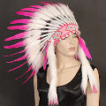 Pink Indian Headdress Native American Indian