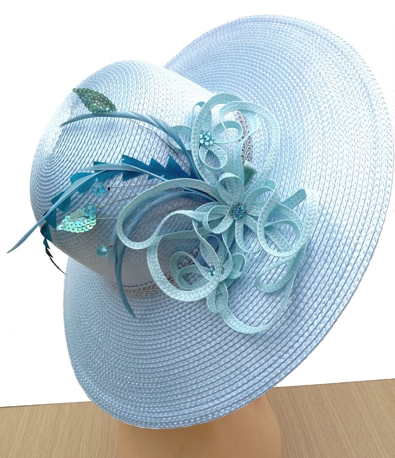 Elsie Light Blue Spring Racing Carnival Hat