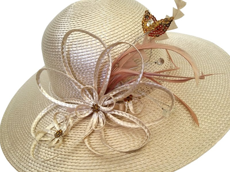 Elsie Cream Spring Racing Carnival Hat