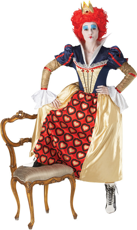 Red Queen Of Hearts Costume - Click Image to Close