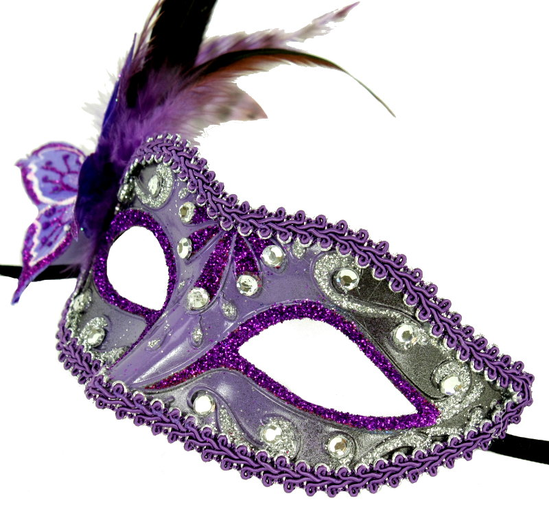 Purple Butterfly Mask - Click Image to Close