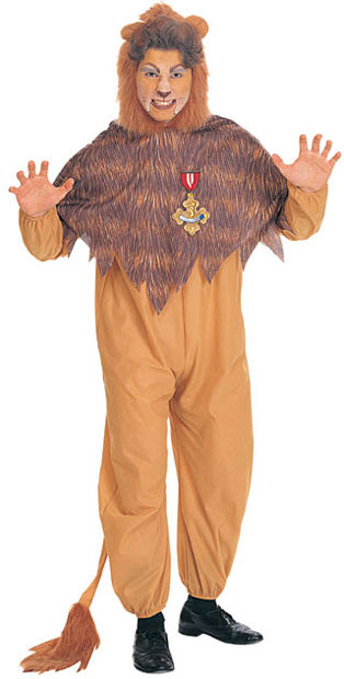 Cowardly Lion Adult Costume (Medium) - Click Image to Close