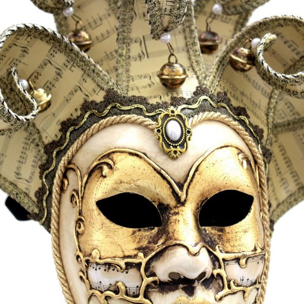 Musical Lifesize Jester Mask