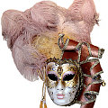 Pierrina Vegas Antique Rose Mask