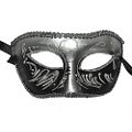 Margueritte Black and Silver Mask