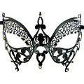 Butterfly Black Metal Masquerade Mask