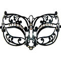 Ariel Black Metal Masquerade Mask