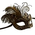 Michelle Black/Gold Masquerade Mask