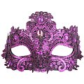 Crystal Lace Metallic Magenta Masquerade Mask