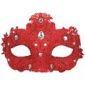 Crystal Lace Red Masquerade Mask