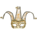Court Jester Gold Jacquard Masquerade Mask
