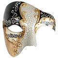 Maestro Phantom Gold/Black Masquerade Mask