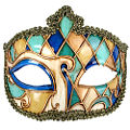 Venice Gold, Blue & Green Mask