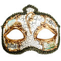 Salvatore Cream Masquerade Mask