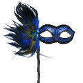 Simona Blue Mask w/ Stick