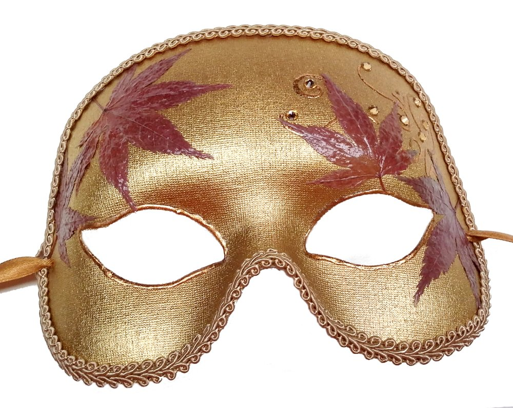 Autumn Leaves Masquerade Mask