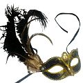 Black Starlight Masquerade Mask