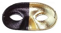 Bi Colour Mask - Gold/Black