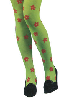 Flower Power Tights - Green