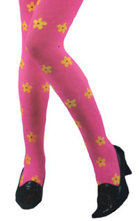 Flower Power Tights - Pink