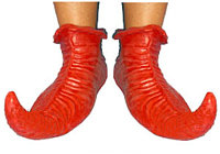 Rubber Red Elf Shoes