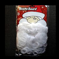 Santa White Beard with Moustache