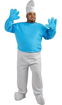 Smurf Plus Deluxe Adult Costume