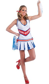 Playboy Cheerleader Adult Costume (Small/Medium)