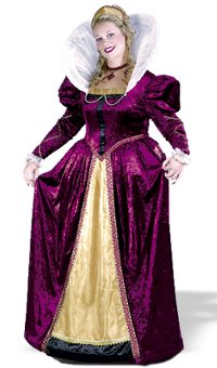 Elizabethan Queen Adult Costume (Large)